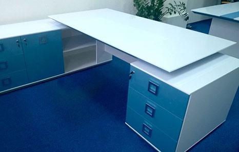 Фотогалерея кабинета Морион с голубыми фасадами